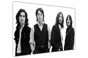 THE BEATLES 1969 PHOTO CANVAS PRINTS WALL ART PICTURE MUSIC STARS BLACK WHITE