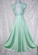 VTG Nylon  DEEP PLUNGE Negligee Nightgown S M