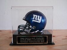 Football Mini Helmet Display Case With A Packers Super Bowl 1 Engraved Nameplate