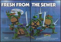 Teenage Mutant Ninja Turtles_/_Playmates__Original 1988 Trade AD / poster__TMNT