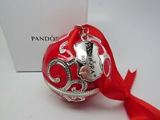 SALE! New w/Box Pandora Red Rockettes 2017 Ltd Ornament B800641 NO CHARM