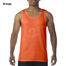 Mens  Gildan Tank Top Ultra CottonWorkout Fitness gym Shirt Solid Color G5200