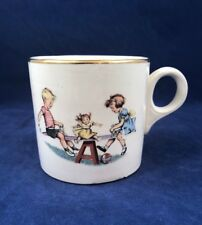 Fun with DICK & JANE Teeter Totter Salem China Nursery Ware Child's Mug Gold Rim
