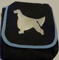 English Setter Bag Mini Reporter Dog Walker Shoulder Bags Navy Blue Gift