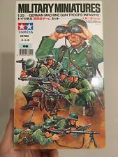 Tamiya Wwii German Machine Gun Troops Military Miniatures 1/35 Model Kit New