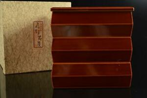 #4019: Japanese Wooden Hida Shunkei lacquer ware FOOD BOXES Jubako Lunch Box
