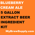 Blueberry Cream Ale Homebrew 5 Gal Beer Extract Ingredient Kit - My Brew Supply