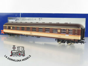 DO436 H0 =DC ROCO 44387 COCHE PASAJEROS LITERAS BBL-8124 2ª clase RENFE ESTRELLA