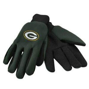 FOCO NFL Green Bay Packers Embroidered Utility Gloves Pair One Size Fits Most