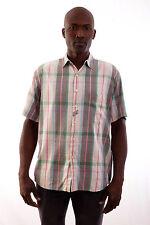 Missoni Hombres Sport Rayas Camisa a Cuadros Hombre Vintage 80s Casuals L Hecho en Italia