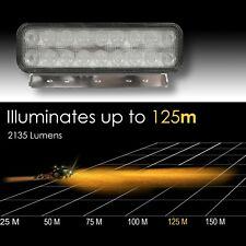 LED Work Light - lluminates up 125 m -Tractor Jeep Truck - 10-30 V - Aluminium