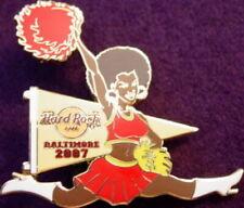 Hard Rock Cafe BALTIMORE 2007 Sexy Black Cheerleader Girl w/ Pom Pom HRC #36385