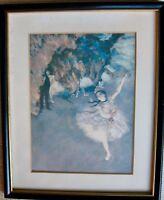"Edgar Degas ""Dancers on Stage"" Pastel Print c.1876-77 The Louvre Museum, Paris"