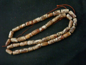 23 Inches Beautiful Chinese Old Jade Beads Short Necklace L166