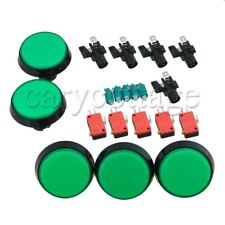 5PCS Arcade Video Game Player Push Button DC12V with Microswitch LED Light Set