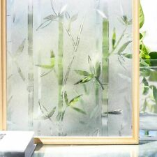 Bamboo Frosted Window Films 3D Decorative Glass Removable Self Adhesive Stickers