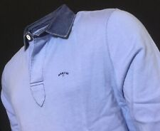 """MANCINI  2XL  Chest Measures 50""""  Blue Hercules L/S Rugby Polo Shirt  RRP £99"""