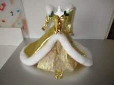 Barbie CLOTHES Holiday Gown GOLD Beaded  Shoes Lot D1