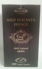 Optimal Health Sheep Placenta Essence 68000+ 100 Capsules 100% Natural