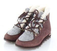 61-44  NEW $180 Women's Sz 8 M Sorel Sneakchic Alpine Nubuck Leather Booties