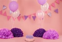 Pink And Purple Birthday Background Backdrop 7x5Ft Background Vinyl Photography