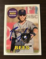 Brandon Marsh Signed 2018 Topps Heritage Minors Autographed Card Auto Angels RC