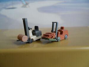 2 Gabelstapler Auto PKW Fahrzeuge 1:160 Spur N 02