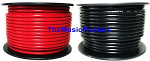 18 Gauge 100' ft each Red Black Auto PRIMARY WIRE 12V Wiring Car Power Cable