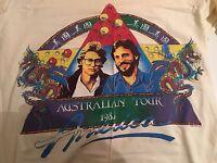 AMERICA BAND ORIGINAL VINTAGE 1985 AUSTRALIAN TOUR SHIRT SIZE MEDIUM