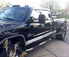 "2007-2013 GMC Sierra Crew Cab Duelie Dually Bed Chrome Rocker Panel Trim-10Pc 9"""