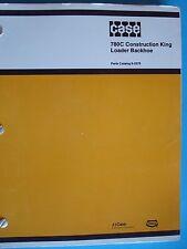 Case 780C Construction King Loader Backhoe Parts Catalog Manual 8-2270; 1985 OEM