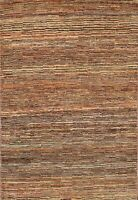 Striped Gabbeh Kashkoli Oriental Area Rug Hand-knotted Modern Foyer Carpet 4x5