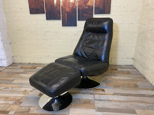 Extremely Comfortable Black Leather Armchair