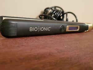 "Bio Ionic GoldPro Smoothing & Styling Iron 1"" with LED Display - Gold/Black"