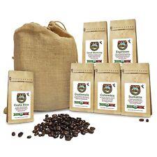 JAVA PLANET COFFEE BEANS ORGANIC SAMPLERS SIX BURLAP 3.2 0Z BAGS WHOLE BEAN