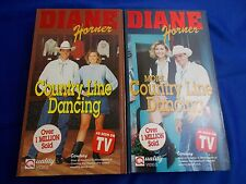 Country Line Dancing & more 2 VHS tapes Diane Horner's music electric slide