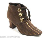 Bottines à Lacet Chaussures à Grannys Enzo Ballini Or Emblème Élégant 38,5