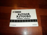 1985 Yamaha Owners Manual Wiring Diagram XJ700S XJ700SC LIT-11626-05-04