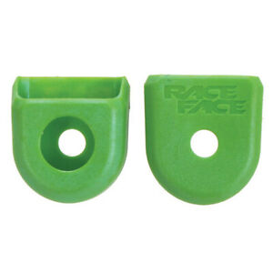 RaceFace Crank Boots: For Alloy Cranks 2-Pack Green