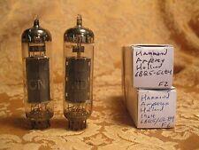 Vintage Pair Hammond Amperex 6BQ5 EL84 Holland Tubes Tested Strong 1964
