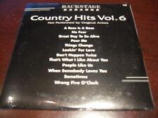 BACKSTAGE KARAOKE 105  COUNTRY HITS VOL 6  CD+G SEALED