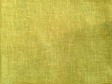 PURE NATURE CHARTREUSE GREEN PLAIN COTTON LINEN MIX CURTAIN DRESSMAKING FABRIC