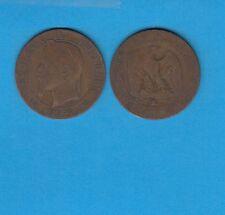 gertbrolen 5 Centimes bronze Napoléon III Tête laurée 1864 Bordeaux