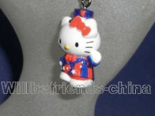 Hello Kitty Uncle Sam Figure Mobile Cell Phone Charm Decorative Strap Pendant