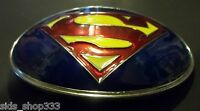 ~ Classic SUPERMAN LOGO Belt Buckle ~ Full metal 4 inch x 3 Justice League