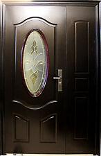 Wohnungstür,Haustür,Sicherheitstür,Stahltür,Türen,Innen Rechts 130x205cm,Braun!!