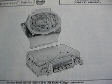 1956 PACKARD CLIPPER RADIO PHOTOFACT