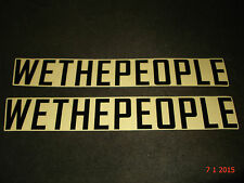 2 AUTHENTIC WETHEPEOPLE BIKE CO. LARGE BLACK STICKERS / DECALS #9 AUFKLEBER