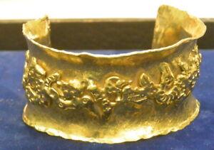 Jean Mahie 22k Gold Happy Monsters Cuff Bracelet