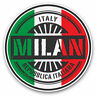 2 x Vinyl Stickers 7.5cm - Milan Italy Italian Flag Travel Cool Gift #6110